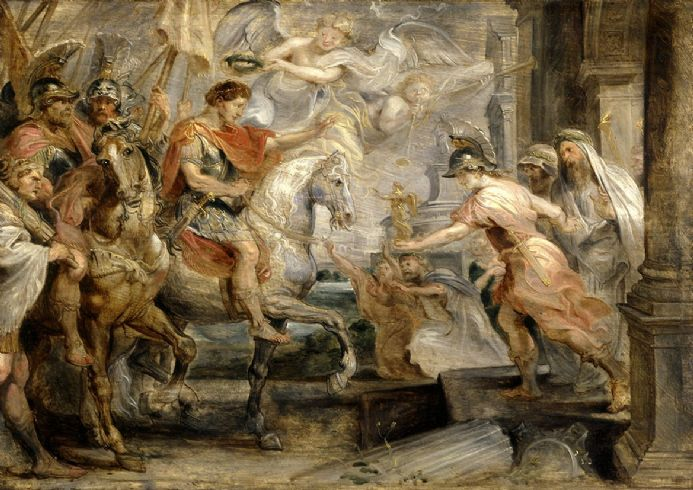 Rubens, Peter Paul: Triumphant Entry of Constantine into Rome. Fine Art Print/Poster. Sizes: A1/A2/A3/A4 (003918)